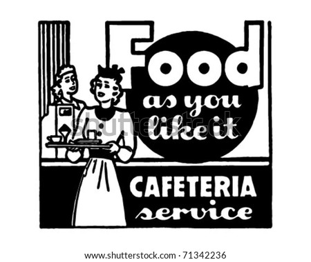 Food As You Like It - Retro Ad Art Banner - stock vector