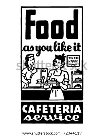 Food As You Like It 2 - Retro Ad Art Banner - stock vector
