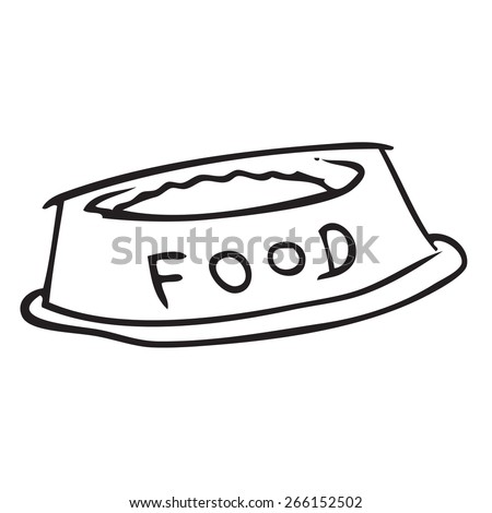 Food Bowl Doodle - stock vector