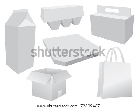 Food box layout - stock vector