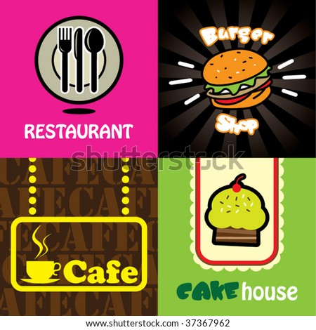 food concept design sets - stock vector