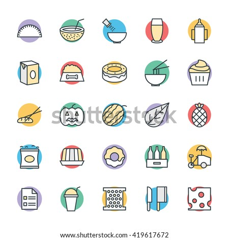 Food Cool Vector Icons 12