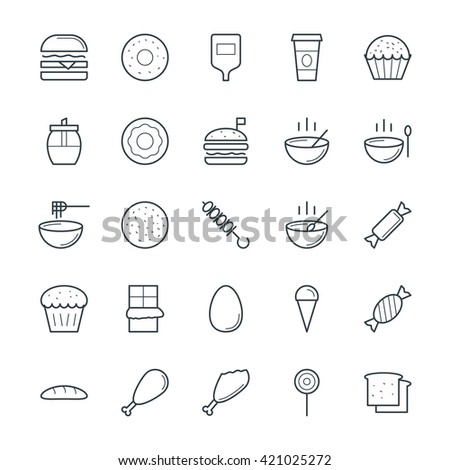 Food Cool Vector Icons 1