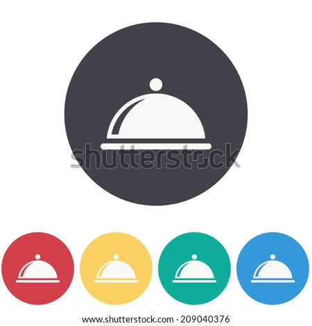 food cover icon , vector illustration - stock vector