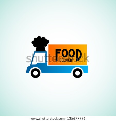 Food delivery signs - stock vector