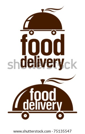 Food delivery signs set. - stock vector