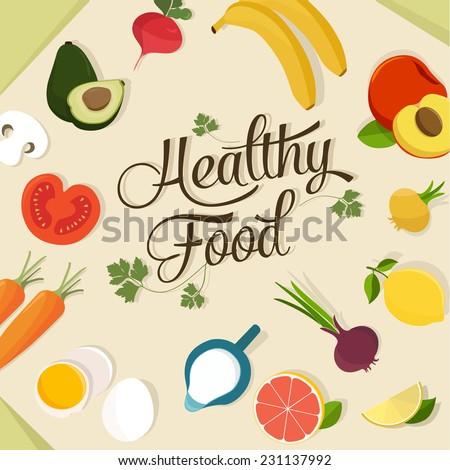Food design set - stock vector