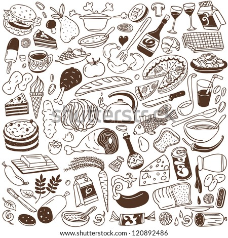food - doodles collection