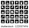 food & drink icons set - stock vector