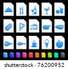 Food Icon on Document Icon Collection Original Illustration - stock vector
