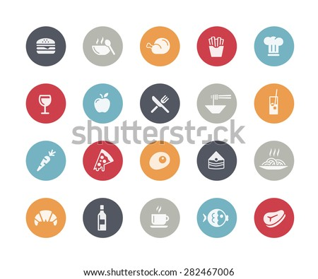 Food Icon Set 1 of 2 // Classics Series - stock vector