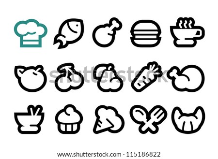 Food Icons - stock vector