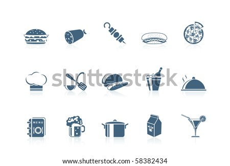Food icons 1 - stock vector