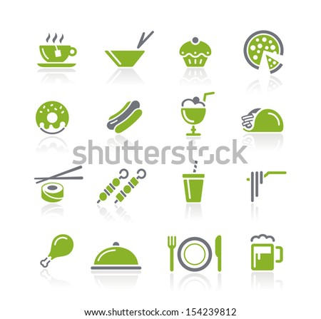 Food Icons - 2 of 2 // Natura Series - stock vector