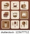 Food icons set. Vector symbols. - stock vector