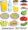 Food Illustrations - stock vector