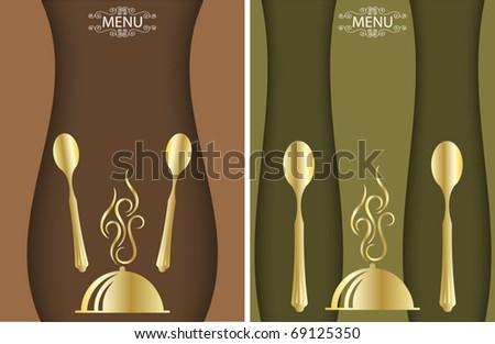 Food Menu Card Design - stock vector