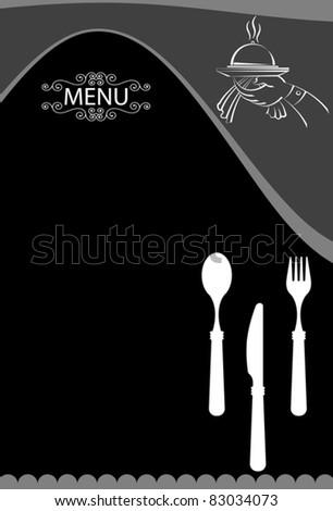 food menu design template - stock vector