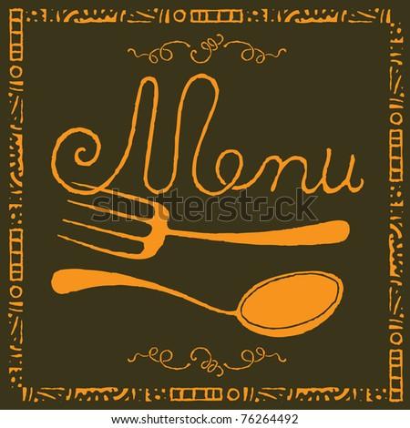 food menu gold label - stock vector