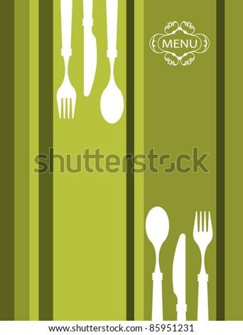 Food Menu Template - stock vector