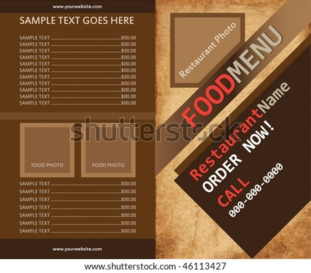 Food or coffee menu - Vector - stock vector