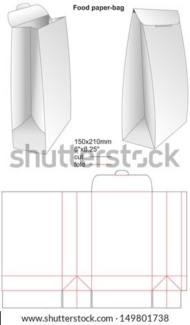 shopping bag template illustrator - Emayti