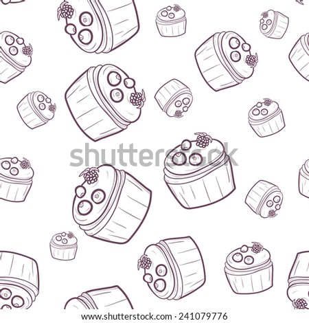 food pattern. cakes pattern