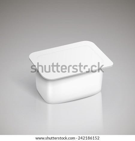 food plastic container isolated over grey - stock vector
