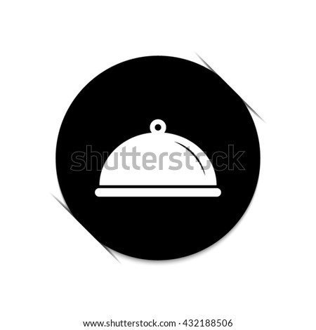 Food platter serving sign  - black vector icon