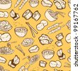 food seamless pattern - stock vector