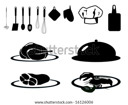 Food Service Collection is original artwork. - stock vector