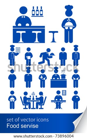 food service icon vector illustration isolated on white background - stock vector