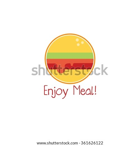 Food service vector logo. Fast food restaurant logo. design template - stock vector