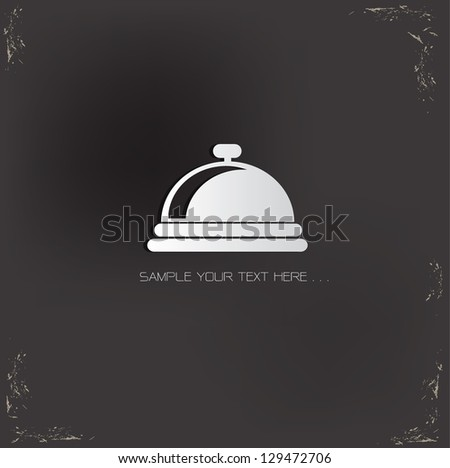 Food Sign,vector - stock vector