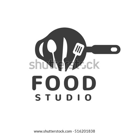 Restaurant Kitchen Toolste food studio vector logo kitchen tools stock vector 516201838