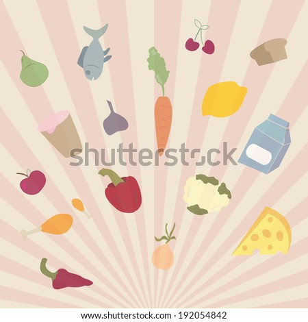 food sunshine, vector - stock vector