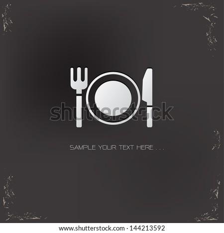 Food symbol,vector - stock vector