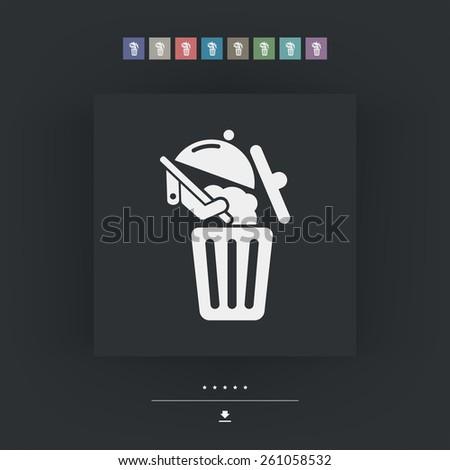 Food trash icon - stock vector