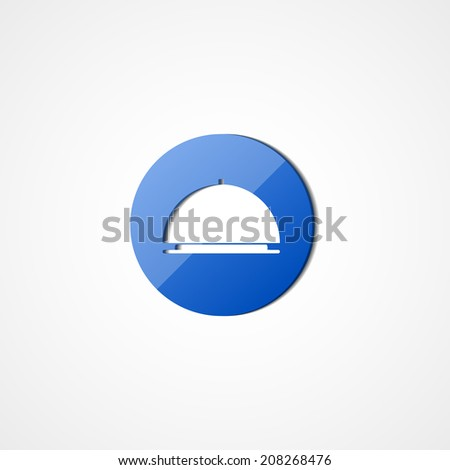 Food tray web icon on white background - stock vector