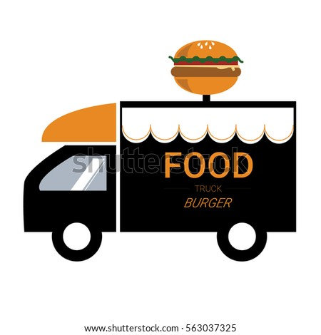 food truck burger logo stock vector 563037325 shutterstock rh shutterstock com truck logos for business truck logos pictures