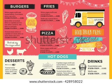 Menu board stock images royalty free images vectors for Food truck menu design