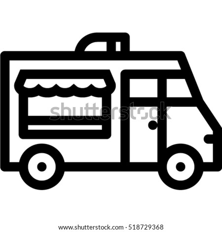 Food Truck Icon Stock Vector 518729368