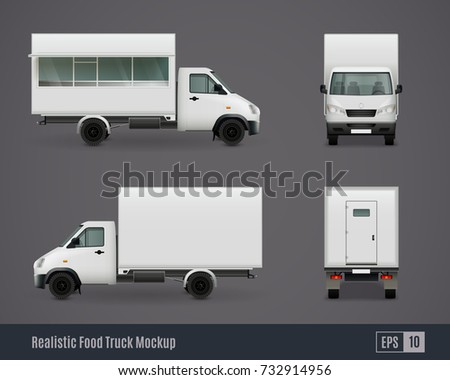 Van Vector Template Car Branding Advertising Stock Vector