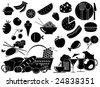 food vector elements - stock vector