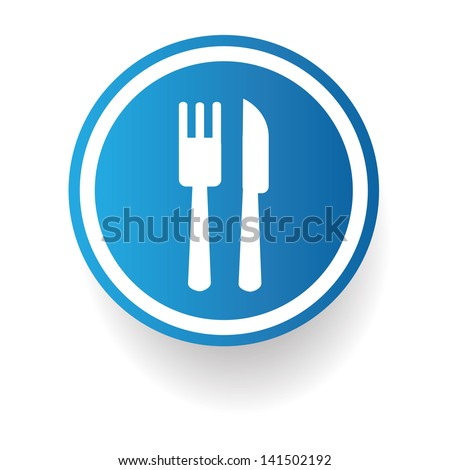 Fork icon stock photos images pictures shutterstock for Cuisine zone