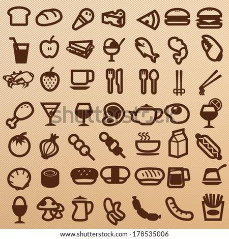 Foods symbol - stock vector