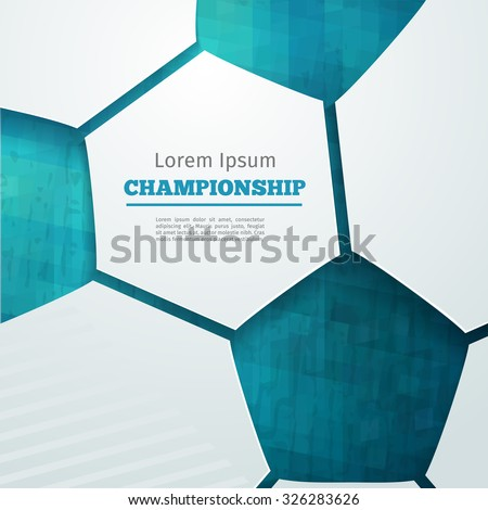 Football abstract geometric background with polygons. Soccer label design. Info graphics composition with geometric shapes. Vector illustration for sport presentation - stock vector