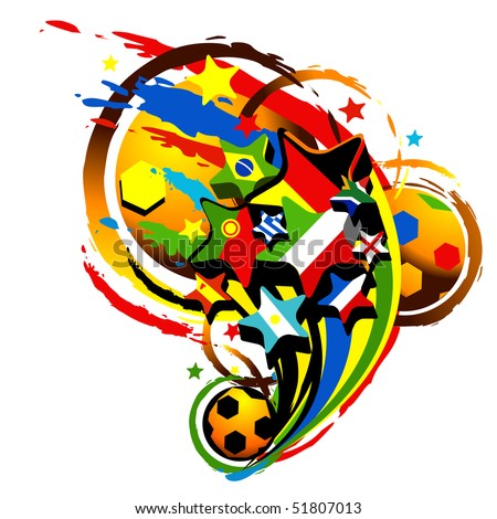 football abstract vector illustration - stock vector