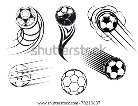 Football and soccer symbols, mascots and emblems for sports design. Jpeg version also available - stock vector