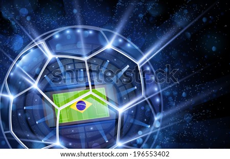 Football arena, top view. Vector - stock vector